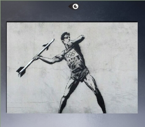 Hot-sell-American-Street-Artist-by-Bansky-for-font-b-Olympics-b-font-poster-painting-on